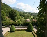 Savoy, castle overlooking a small village, 30' Aix les Bains