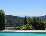 ARDÈCHE, elegant 19th century house with a pool and a view