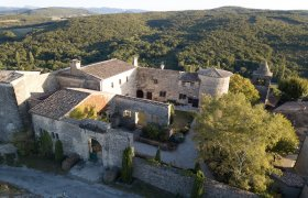 Drôme, restored medieval castle, atop a charming village classified